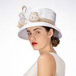 Large Pleated Blow Satin Women's Hat