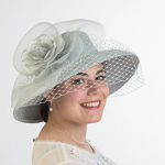 Lamp Shape Metallic - Crinoline Veil Hats