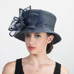 With Bow Metallic Hats