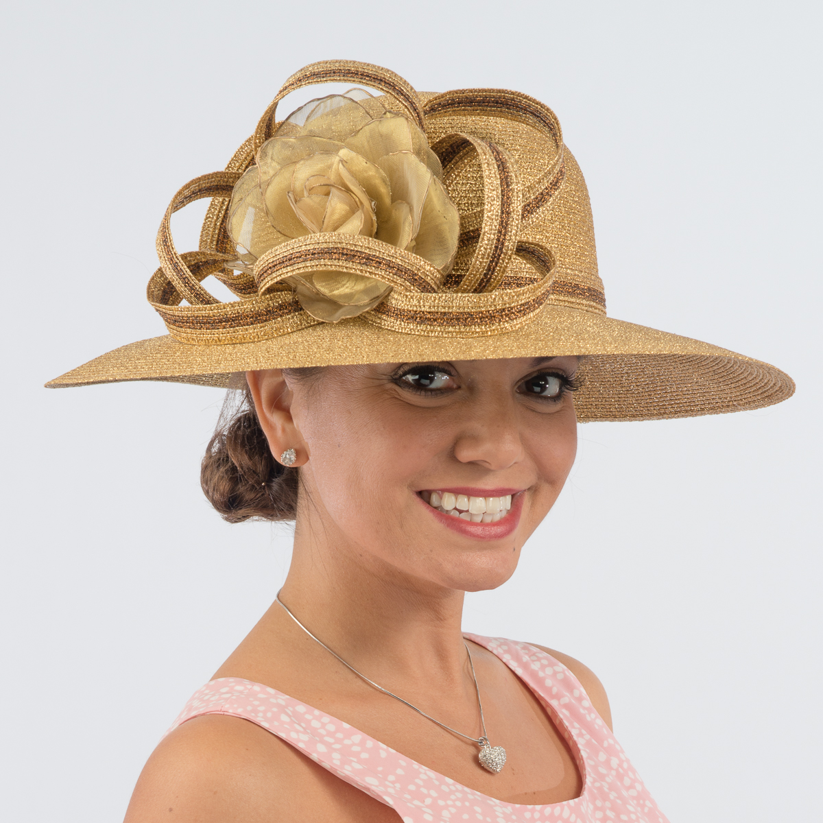 1c842985 Gold-Copper Metallic Swinger Hat-Floral Hats-331763-GD.CP- Sun Yorkos |  KaKyCo Accessories