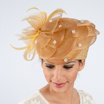 Basket Weave Trim Meta Straw Metallic Pillbox Hats