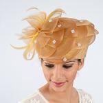 Basket Weave Trim Meta Straw Metallic Pillbox Hats 5aa27e39eb4e