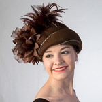 Feather Trim Felt Pillbox Hats