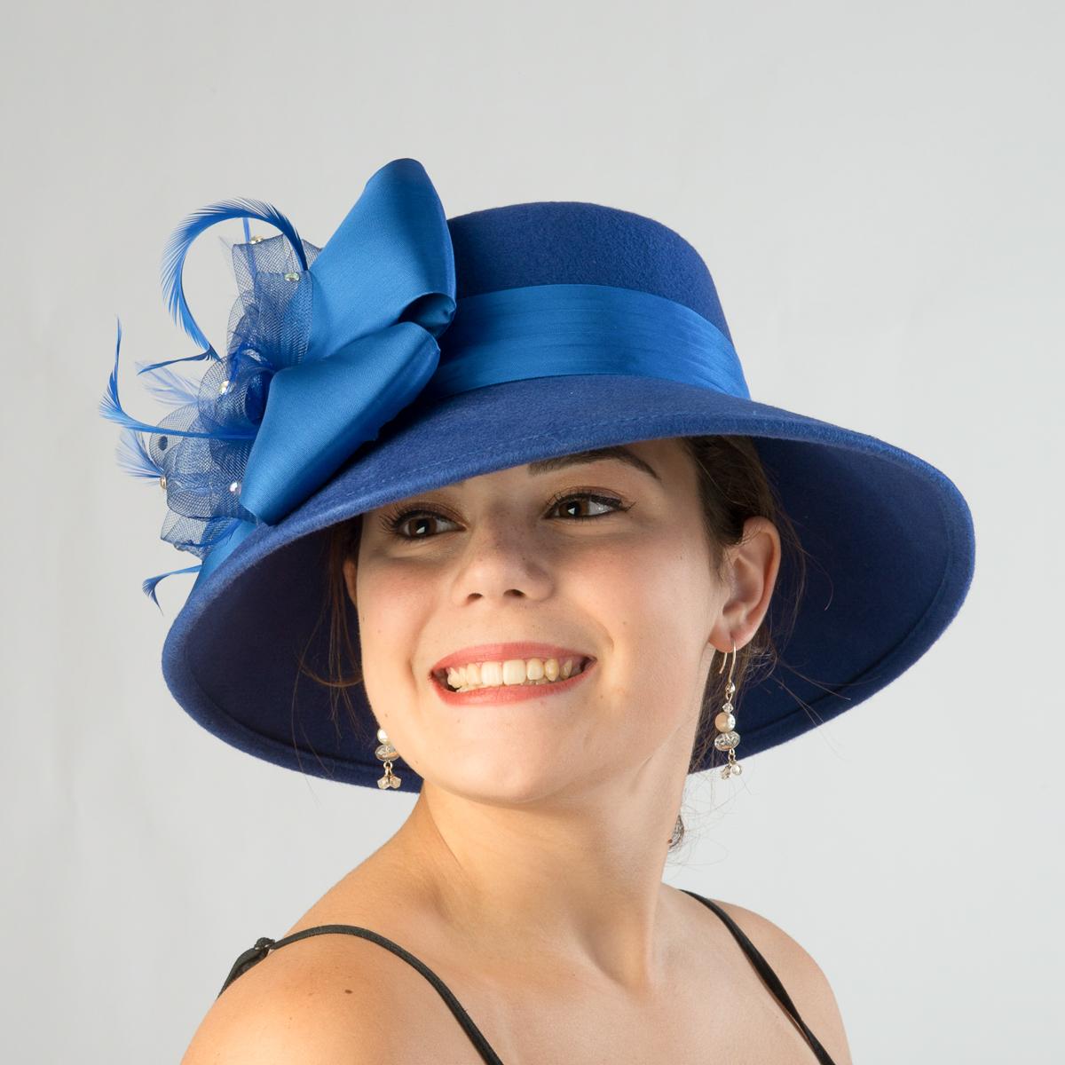 Royal Lampshade Hat-Satin Band-Bow Hats-400627-RY- Sun ...