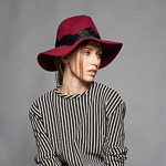Feather Around Soft Brim Wool Felt Fedora Hats