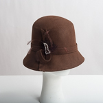 Brown Cloche Felt Hat