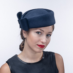 Felt Side Bow Pillbox Hats