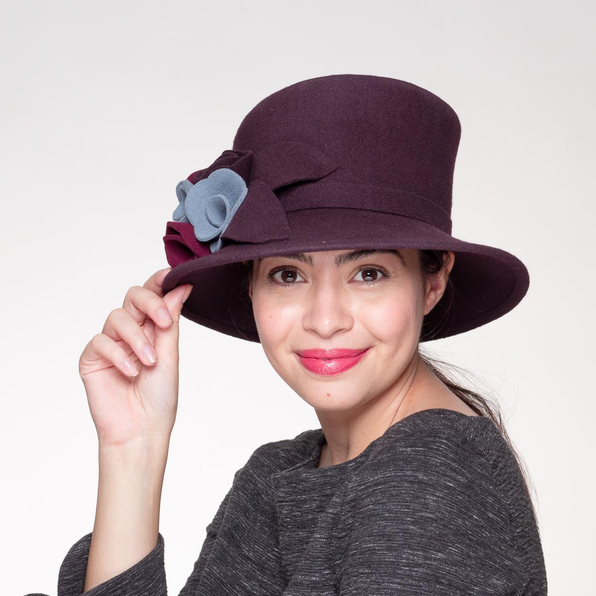 Modena Soft Hat-Asymmetric Crin Felight Bow Hats-466496-D19- Sun Yorkos | KaKyCo Accessories