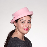 Pink Brisk Small Porkpie Wool Felt Hats b0c6c3323da7