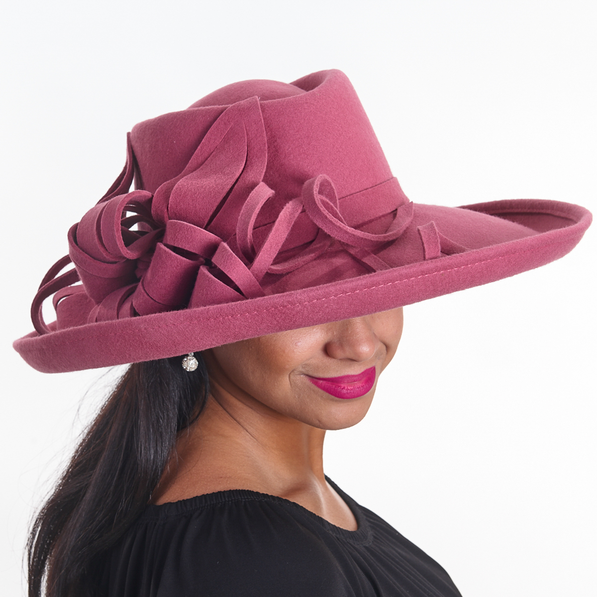 89b2a6d4e0e Rose Soft Large Hat-Felight Bow Hats-466513-M40- Sun Yorkos | KaKyCo  Accessories