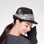 Black Fedora - Bow Band Hats-466524-D1- Sun Yorkos  19e25d19c2a6