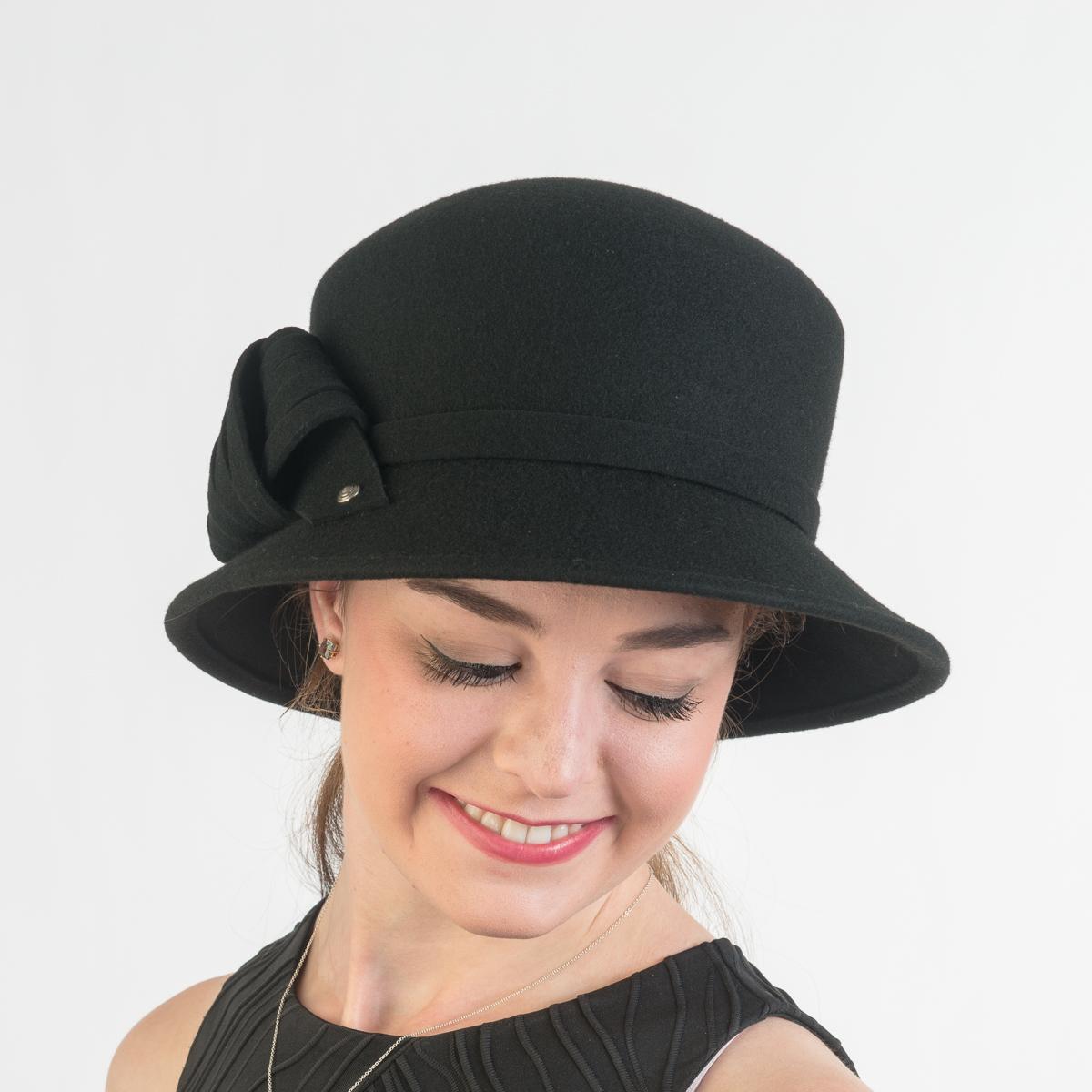 0486e7aadf Black Felt Trim Bucket Hats-466526-D1- Sun Yorkos