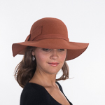 Burnt Orange Concise Felt Knot Wool Swinger Hats 91b59d0fa76f