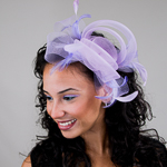 Orchid Crinoline Headband Fascinator
