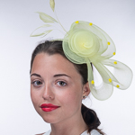 Crinoline Flower Bow Feather Headband Fascinator Cocktail Hats