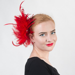 Feather Comb Fascinator Cocktail Hats