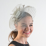 Crinoline Flower Bow Feather Comb Fascinator Cocktail Hats