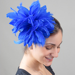 Royal Large Goose Feather Fascinator Cocktail Hats