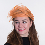Basket Weave Feather Bow Comb Fascinator Cocktail Hats