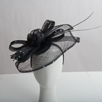Black Butterfly Shape Sinamay Headband Fascinator Cocktail Hats