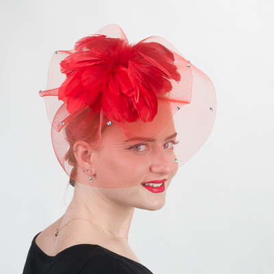 Feather Flower Comb Fascinator Cocktail Hats