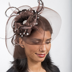 Brown Crin And Velvet Comb Fascinator Cocktail Hats