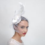 Sinamay Feather Comb Fascinator Cocktail Hats
