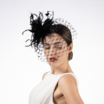 Feather Veil Comb Fascinator Cocktail Hats