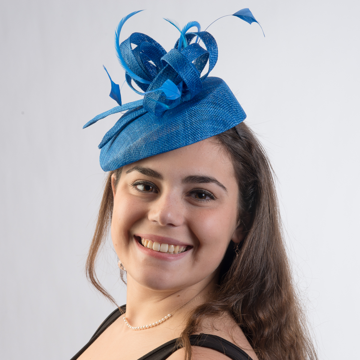 Royal Small Sinamay Fascinator-5800H-54B- Sun Yorkos  9c19cf0341b