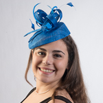 Royal Small Sinamay Elastic Fascinator Cocktail Hats