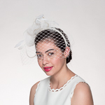 Crinoline Veil Headband Fascinator Cocktail Hats