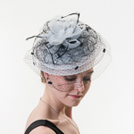 Crinoline Veil Comb Fascinator Cocktail Hats