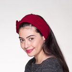 Wine Wool Knitted Headband Wrap