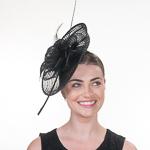 a3c827e063981 Black Plaid Sinamay Headband Fascinator Cocktail Hats
