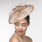 Sinamay Embossed Disc Saucer Headband Fascinator Cocktail Hats