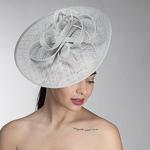 2da3f50fd4afd Silver Open Weave Sinamay Headband Fascinator Cocktail Hats