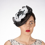 Silk Flower Adroned Crinoline Comb Fascinator Cocktail Hats