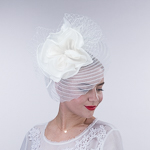 Pleated Crinoline Comb Fascinator Cocktail Hats