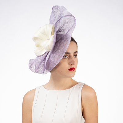Flower Folded Sinamay Headband Fascinator Headpiece