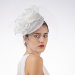 Veil Becall Sinamay Headband Fascinator Headpiece
