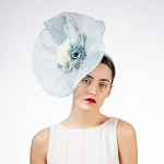 Veil Flower Sinamay Saucer Headband Fascinator Headpiece
