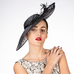 Feather Sinamay Disc Headband Fascinator Headpiece