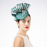 Sculptural Stripe Ribbon Top Sinamy Headband