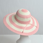 Pink / White Paper Floppy Hats