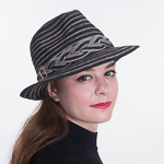 Cotton Blended Braided Trim Fedora Hats