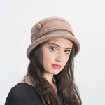 Camel Soft Wool Knitted Bucket