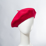 Red Wool Felt French Beret Hats