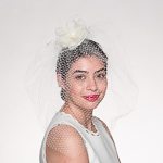 Ivory 18'' Flower Bridal Veils