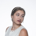 Pearl Face Veils on Headband Bridal Fashion Veils
