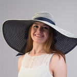 Large Reversible Poly Straw Sun Hat
